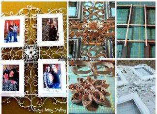 Panels for photos in quilling techniques