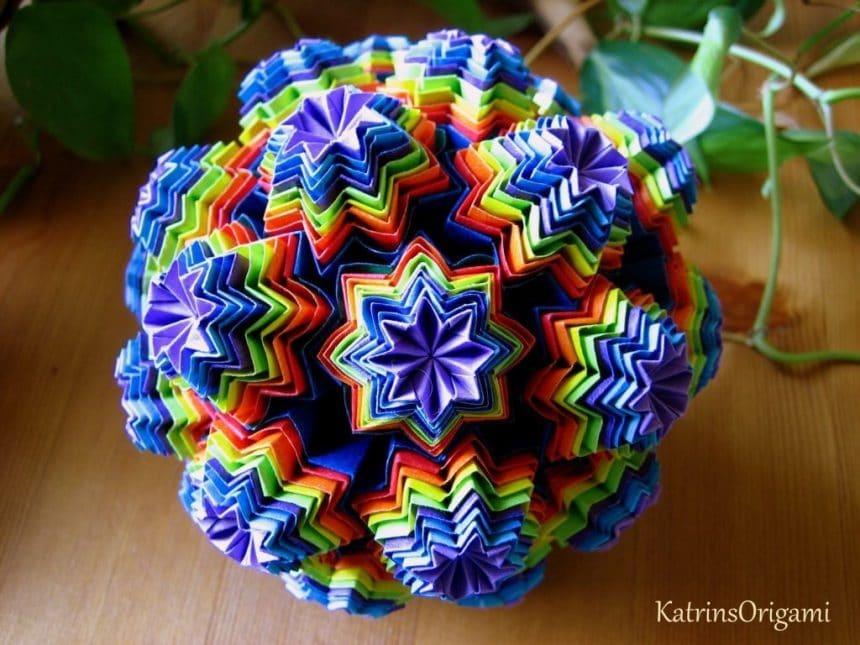 Origami Kusudama Simple Craft Ideas