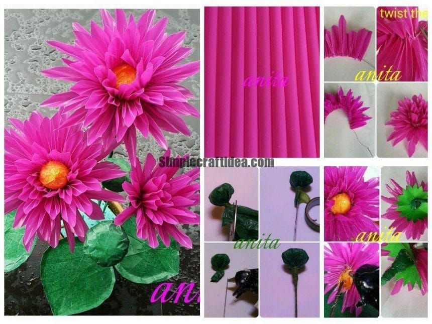 Tutorial for Lotus made from straw