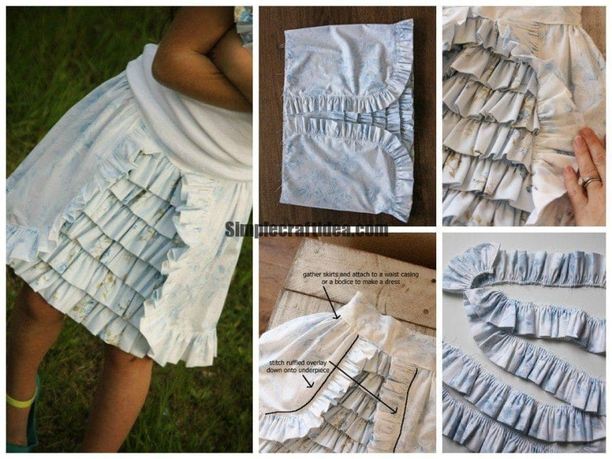 Children skirt with pleats