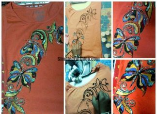 How to paint a T shirt