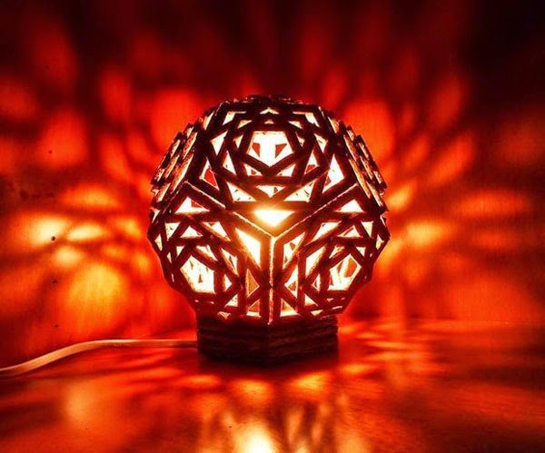 Handmade table lamp simple craft ideas 2 materials handmade table lamp mozeypictures Images