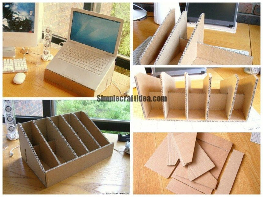 How to make a cardboard stand for a laptop