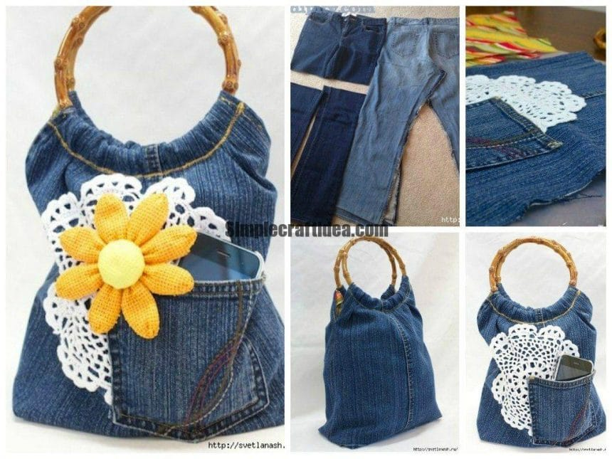 Cute bag of old jeans