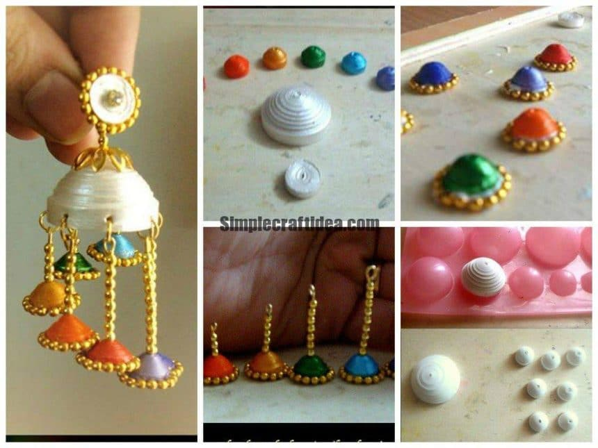 Rainbow wind chime jhumkas