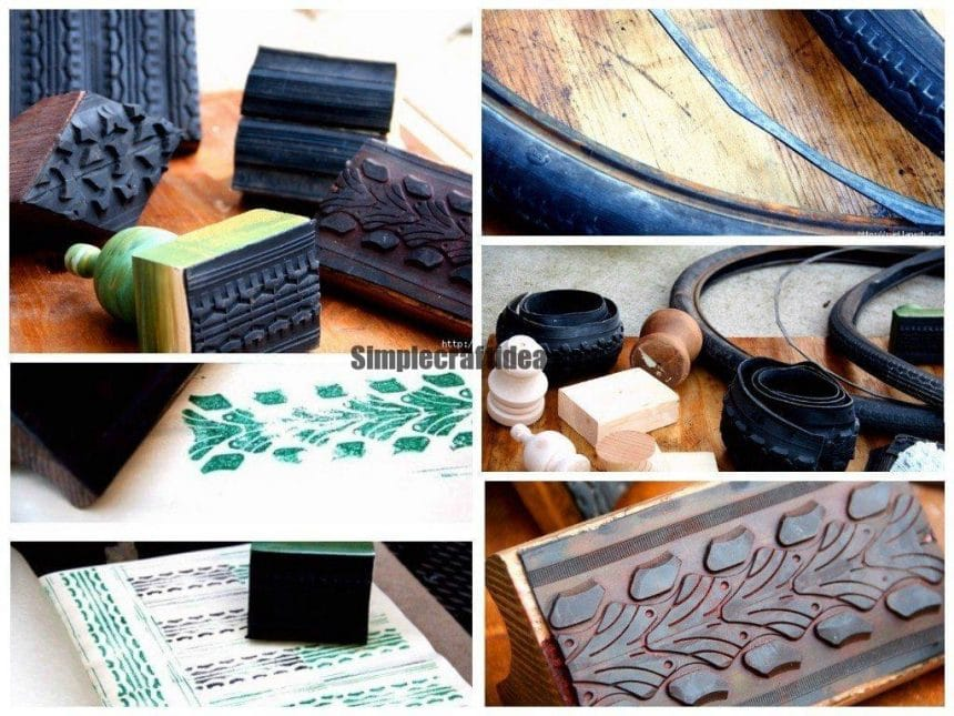 Make stamps from bicycle tire