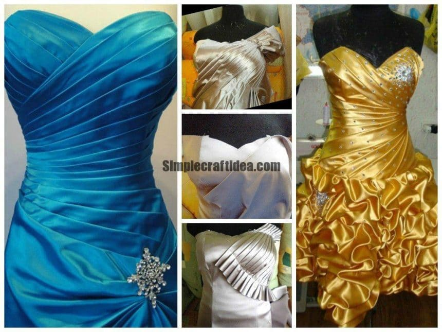 Draperies wedding and evening dresses