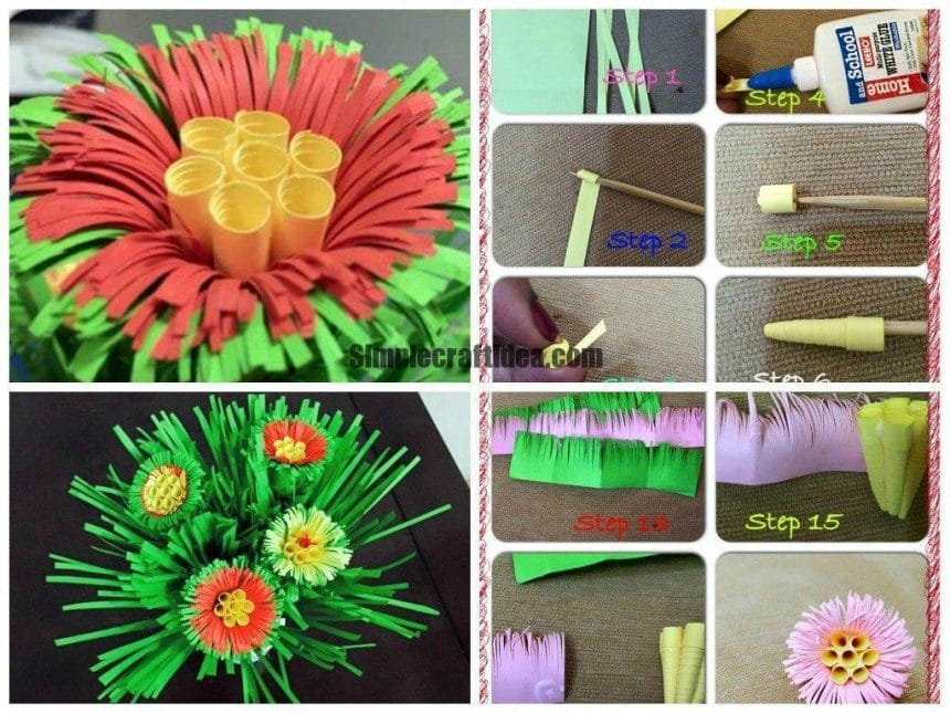 Quilling grass flowers