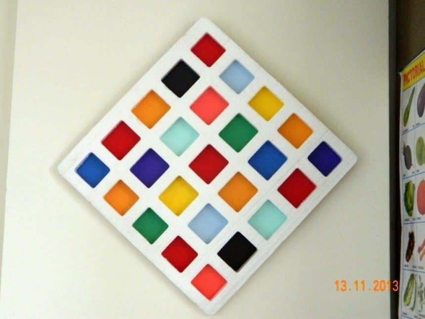 Thermocol Wall Art Simple Craft Ideas