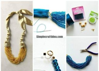 Silk and beads necklace