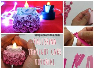 Romantic paper cake candle