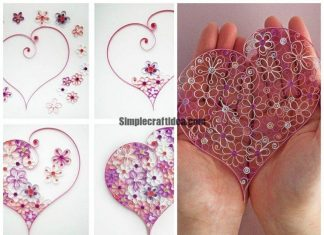 Heart in quilling techniques