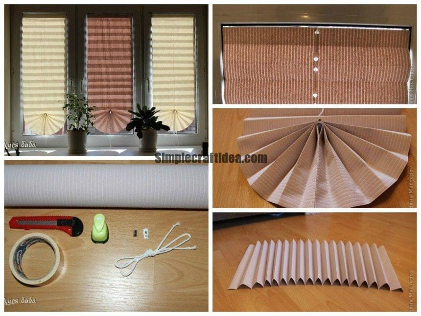 Blinds made of paper