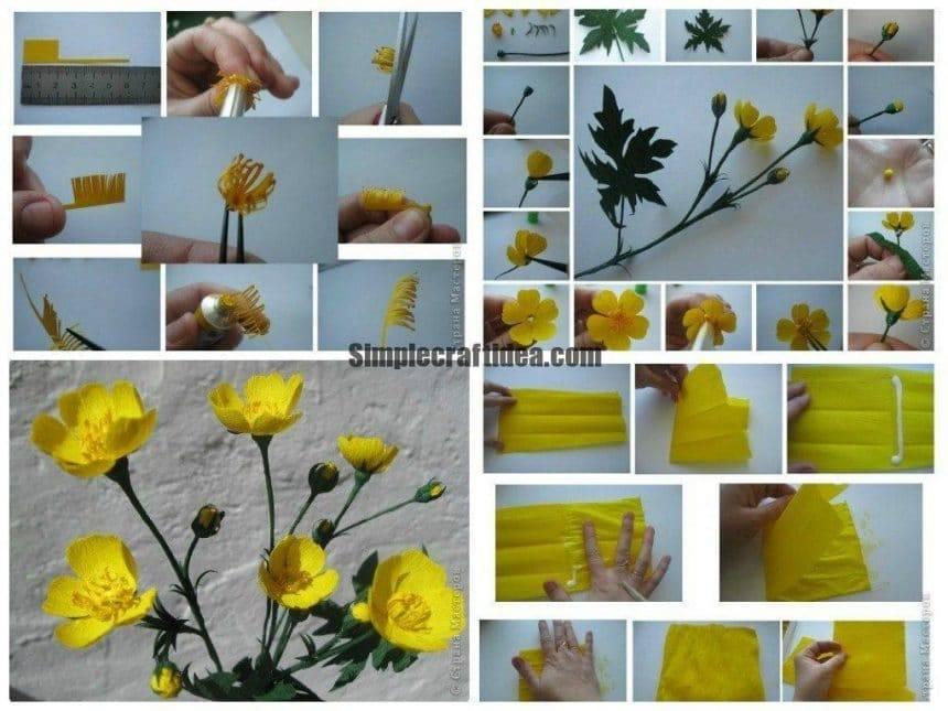 Buttercup flower making