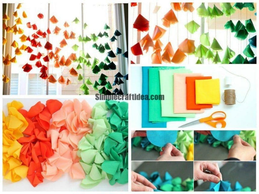 Colorful cloth flowers