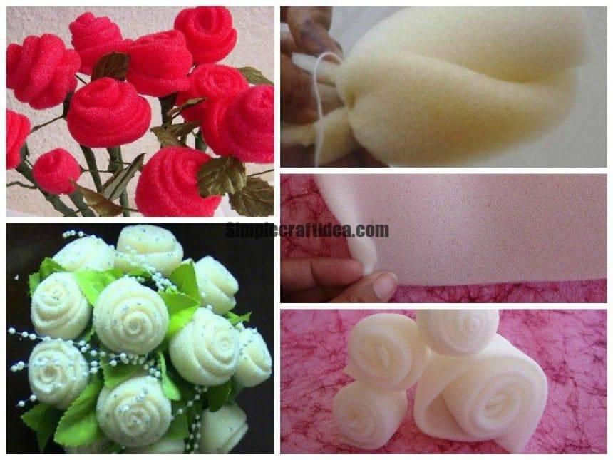 Sponge rose flowers