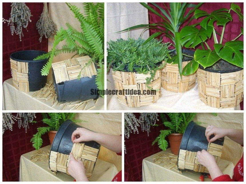 Flower pot making & Flower pot making - Simple Craft Ideas