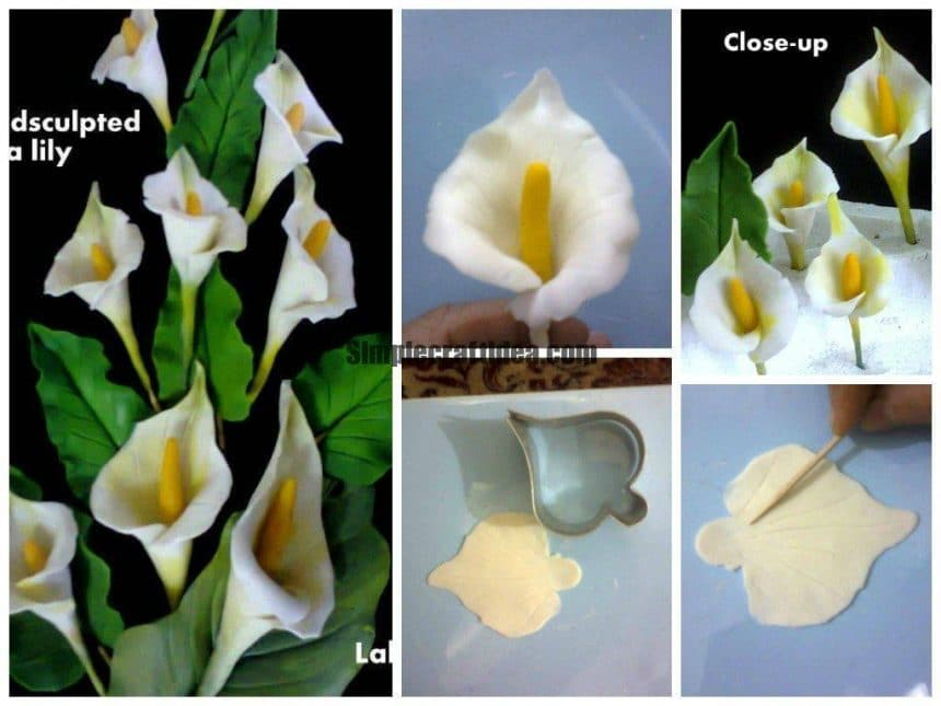 Hand sculpted calla lily