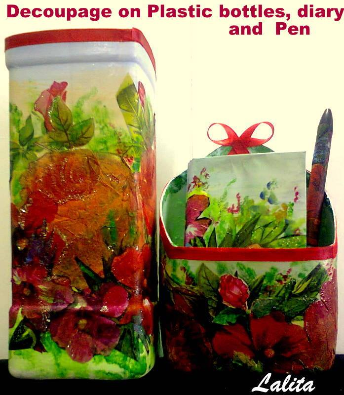 Re Cycle Your Old Plastic Bottles And Decoupage Simple