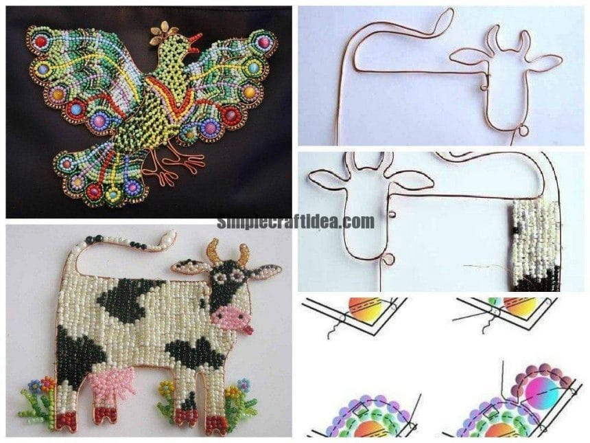 Beautiful decorations of beads and wire