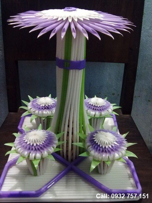 Drinking Straw Flower Simple Craft Ideas