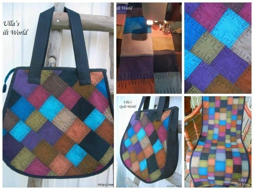 Different colour patches bag