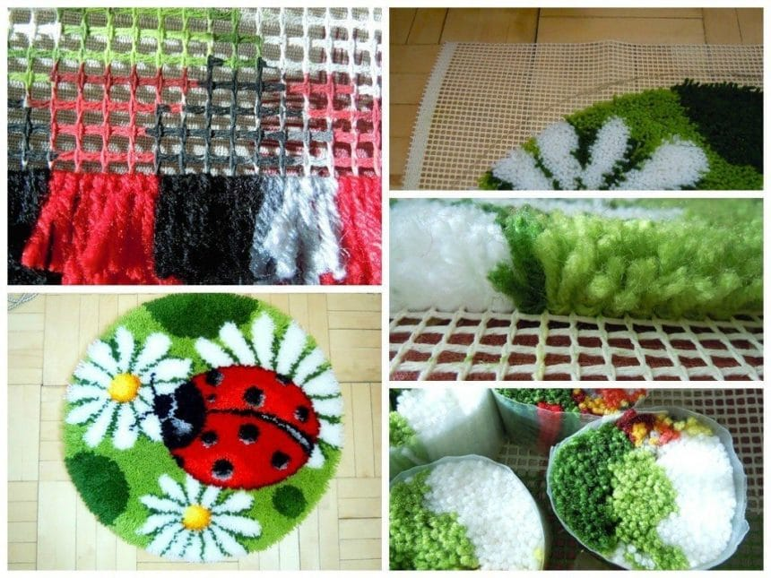 Bright spring mat