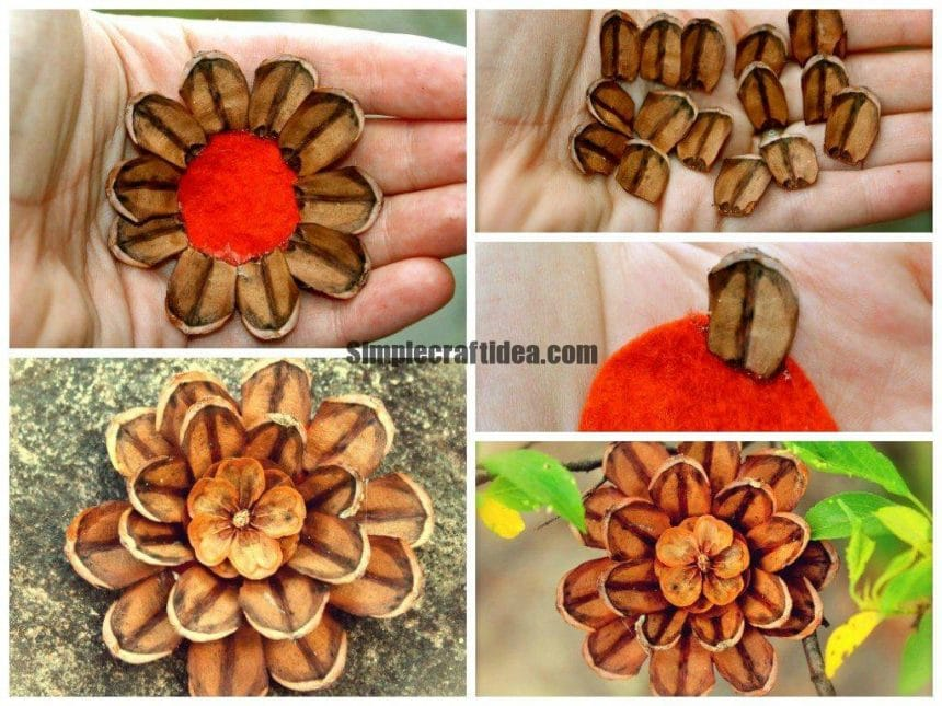 How to make a decoration of pine cones