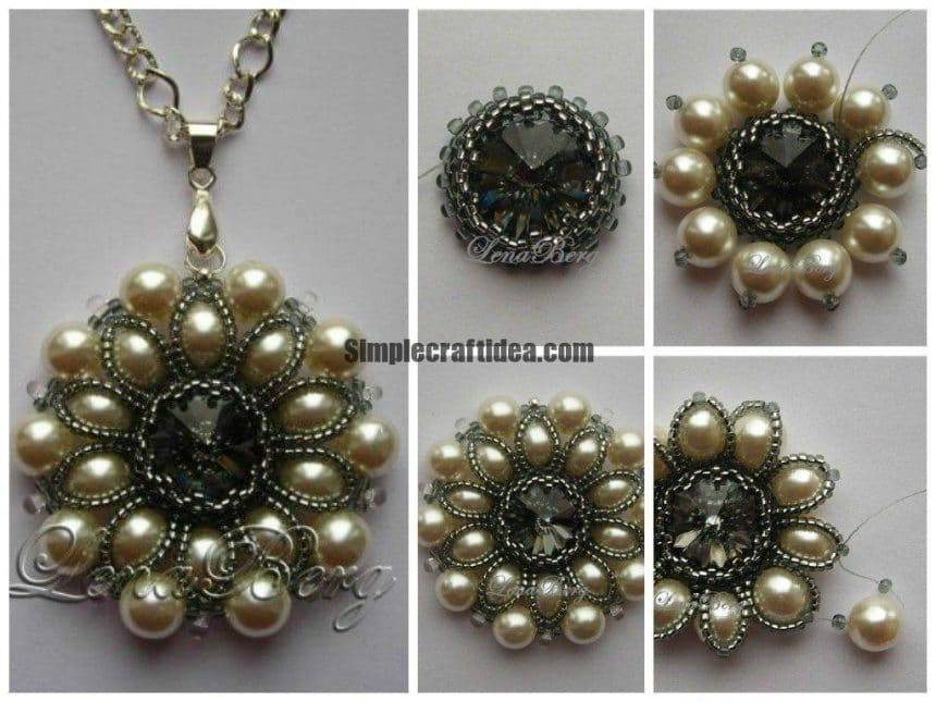 Pendant with pearls