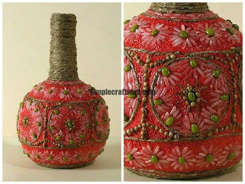 """Bottle """"Oriental motif."""""""