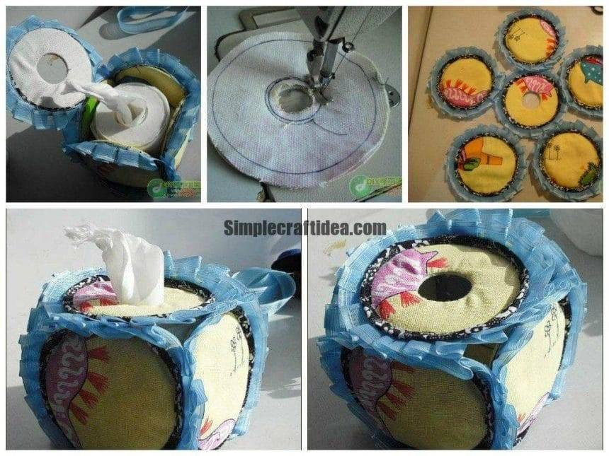 Pumpkin-shaped cloth disc tissue boxes