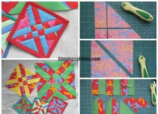 Sew fast simple block