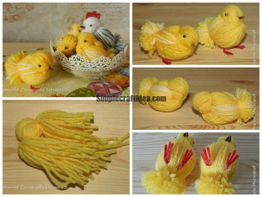 Chickens from the yarn