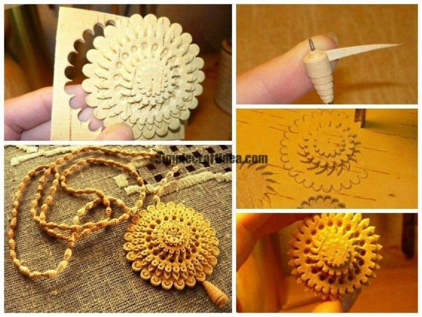 Handicrafts made of birch bark suspension