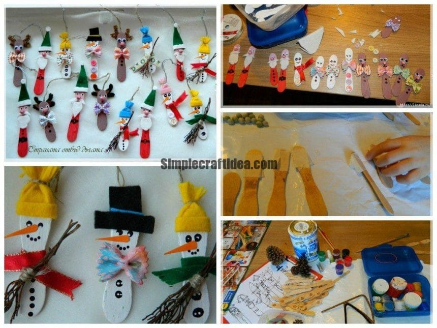 Christmas toys from sticks for ice cream