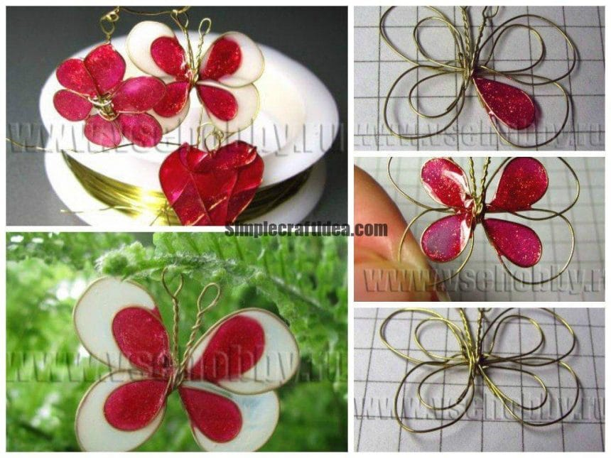 Crafts from wire and nail polish
