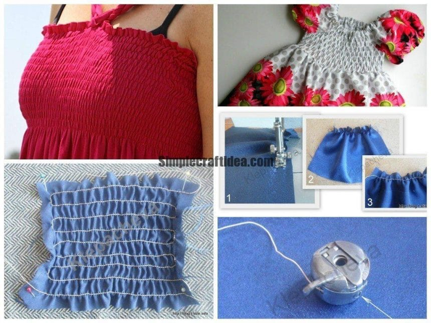How to sew elastic thread