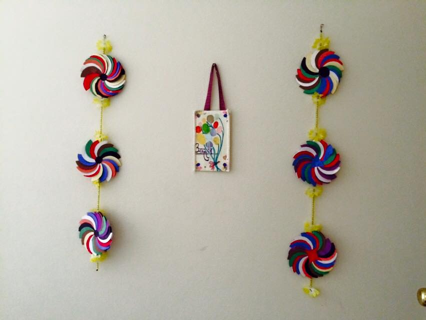 craft ideas for wall hangings flower wall hanging simple craft ideas 6264