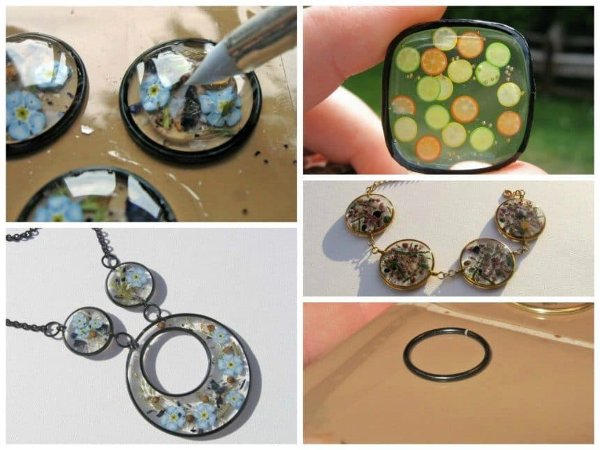 Epoxy and wire jewelry