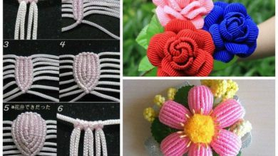 Flowers in the art of Chinese macrame