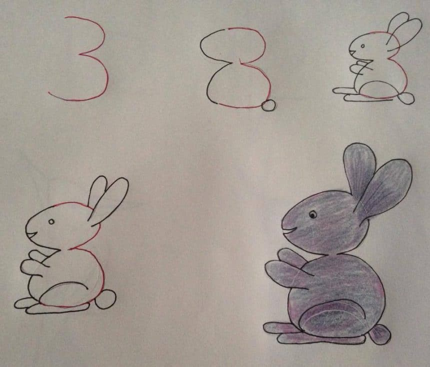 Kids Friendly Drawing With Numbers As A Base Simple Craft Ideas