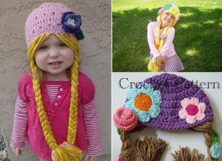 Hat with pigtails