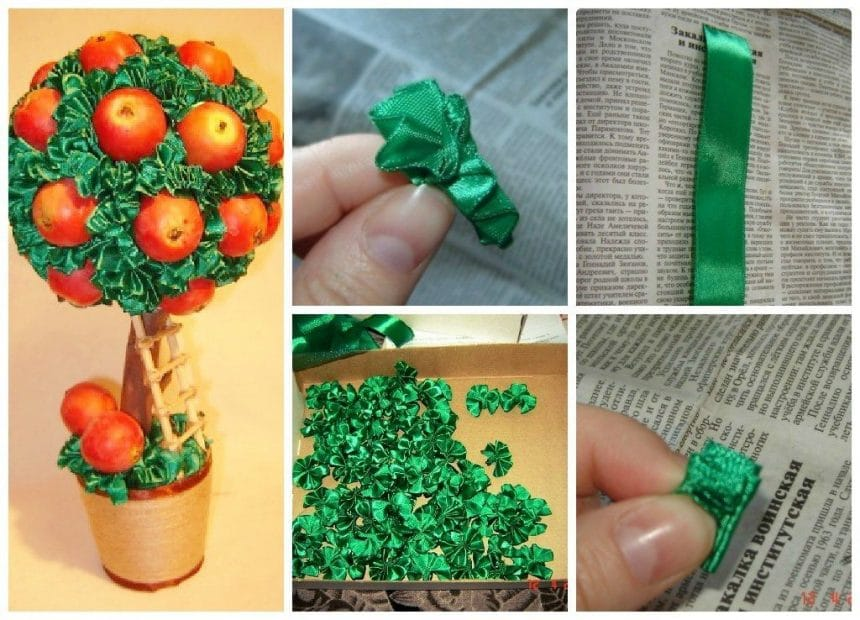 A quick way to trim ribbons