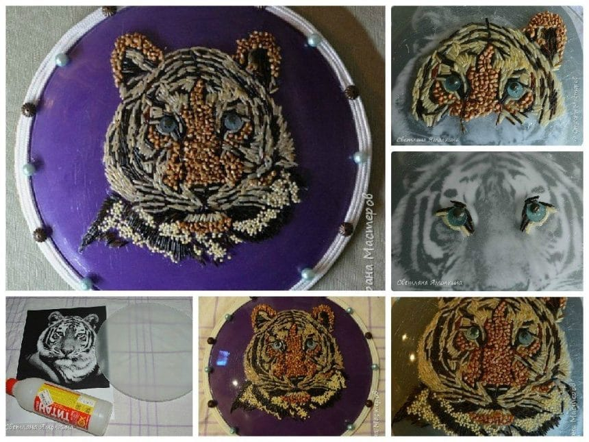 Make a Tiger with Cereals