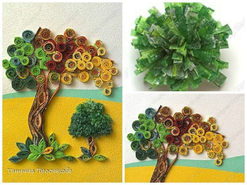 Make a Tissue Paper Tree Quilling