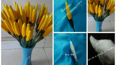 Nylon flower making