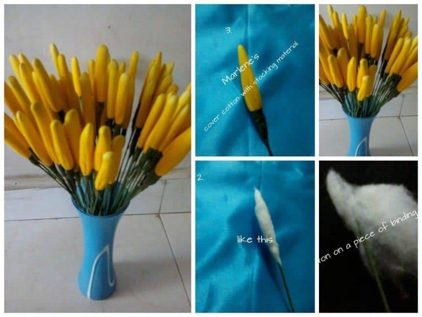 Nylon flower making