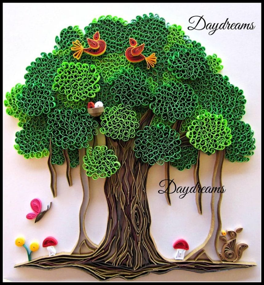 Quilling- beehive technique