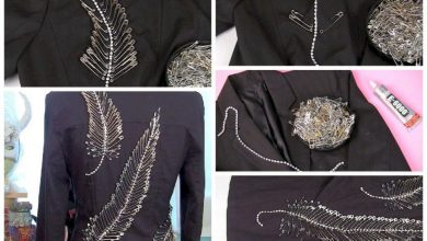 Safety pin feather jacket