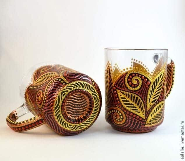 Point Of Painting On Glass Mug Simple Craft Ideas